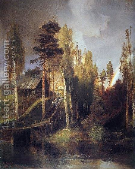 Monastery Gates (1875) by Alexei Kondratyevich Savrasov - Reproduction Oil Painting