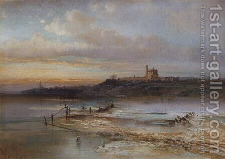 The Thaw, Yaroslavl, 1874 by Alexei Kondratyevich Savrasov - Reproduction Oil Painting