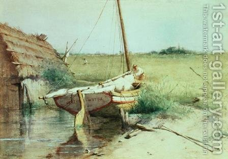 Ship's Bow, 1880 by Dennis Miller Bunker - Reproduction Oil Painting