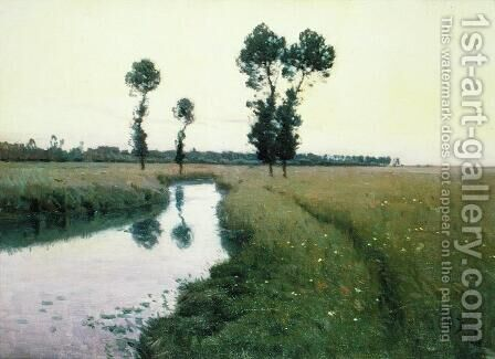 The Path Along the River, 1890 by Charles Harold Davis - Reproduction Oil Painting