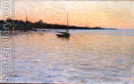 Twilight over the Water, 1892 by Charles Harold Davis - Reproduction Oil Painting