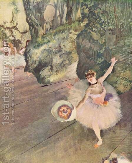 Dancer with a Bouquet of Flowers (Star of the Ballet), 1878 by Edgar Degas - Reproduction Oil Painting