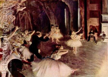 Stage Rehearsal, 1878-1879 by Edgar Degas - Reproduction Oil Painting