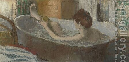 Woman in her Bath, Sponging her Leg, c.1883 by Edgar Degas - Reproduction Oil Painting