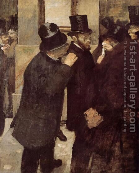 At the Stock Exchange, c.1878-79 by Edgar Degas - Reproduction Oil Painting