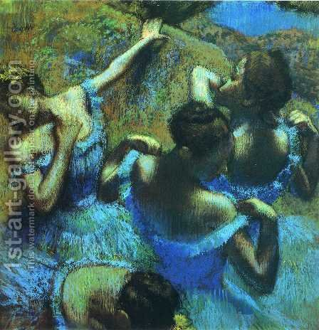 Blue Dancers, c.1899 by Edgar Degas - Reproduction Oil Painting