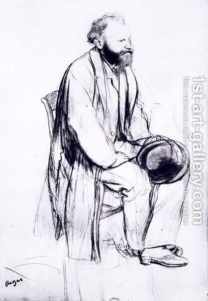 Study for a portrait of Manet by Edgar Degas - Reproduction Oil Painting
