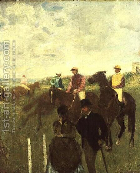 Before the Races by Edgar Degas - Reproduction Oil Painting