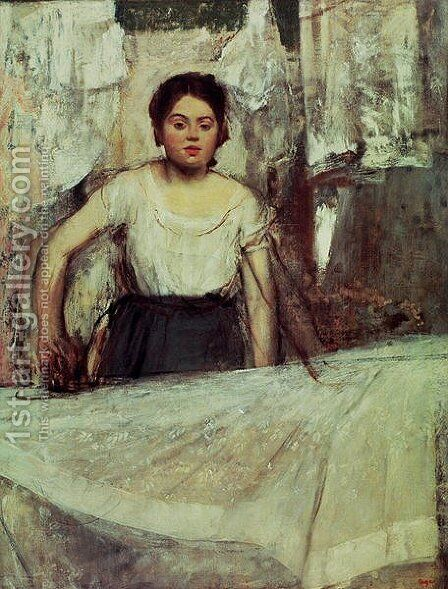The Laundress, c.1869 by Edgar Degas - Reproduction Oil Painting