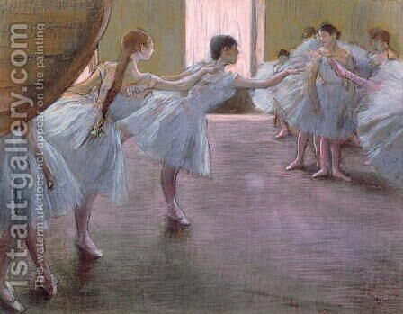 Dancers at Rehearsal, , 1875-1877 by Edgar Degas - Reproduction Oil Painting