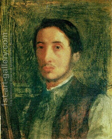 Self Portrait as a Young Man by Edgar Degas - Reproduction Oil Painting