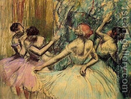 Dancers in the Wings, c.1899 by Edgar Degas - Reproduction Oil Painting