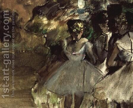 Three Dancers in the Wings, c.1880-85 by Edgar Degas - Reproduction Oil Painting