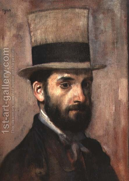 Portrait of Leon Bonnat (1833-1922) c.1863 by Edgar Degas - Reproduction Oil Painting