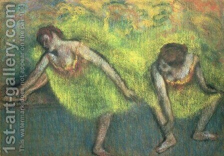 Two dancers relaxing by Edgar Degas - Reproduction Oil Painting