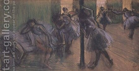 Dancers rehearsing by Edgar Degas - Reproduction Oil Painting