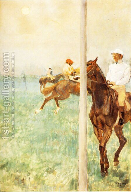 Jockeys Before the Race, c.1878-79 by Edgar Degas - Reproduction Oil Painting