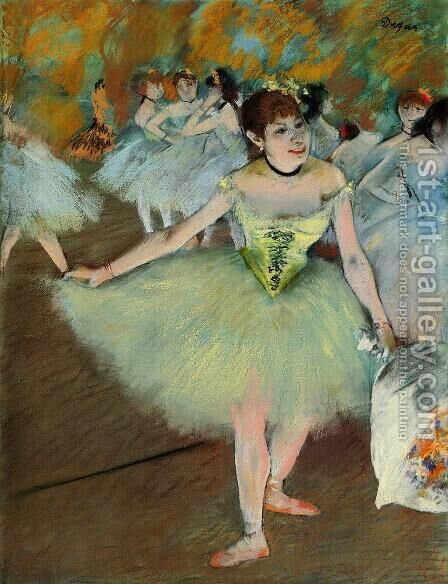 On Stage, 1879-81 by Edgar Degas - Reproduction Oil Painting