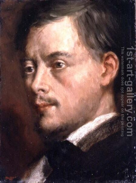 Head of a Man, c.1864 by Edgar Degas - Reproduction Oil Painting