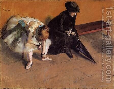 Waiting, c.1882 by Edgar Degas - Reproduction Oil Painting