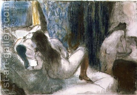 The Brothel, c.1879 by Edgar Degas - Reproduction Oil Painting