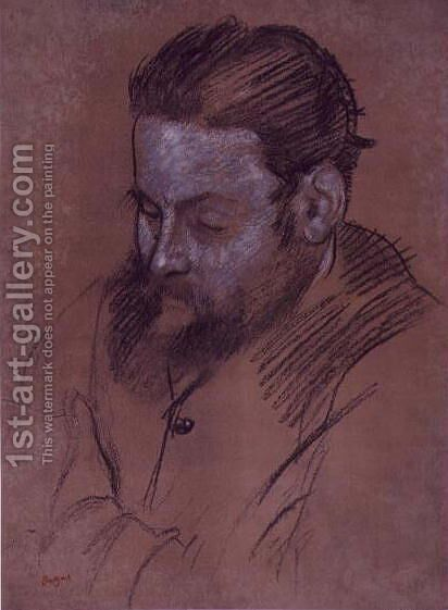 Portrait of Diego Martelli, 1879 2 by Edgar Degas - Reproduction Oil Painting
