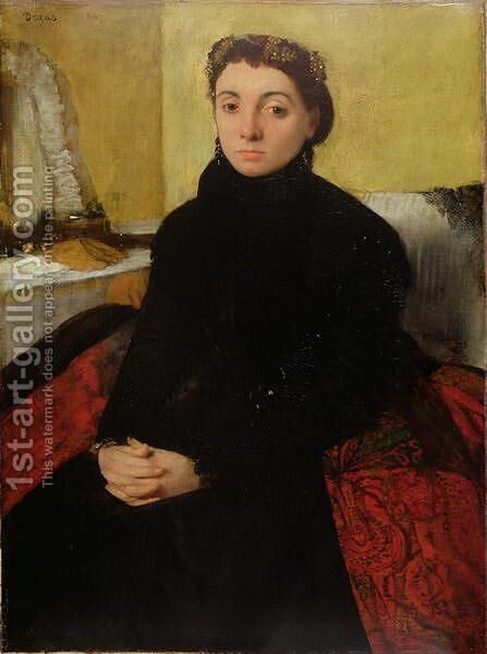 Madame Gaujelin, 1867 by Edgar Degas - Reproduction Oil Painting