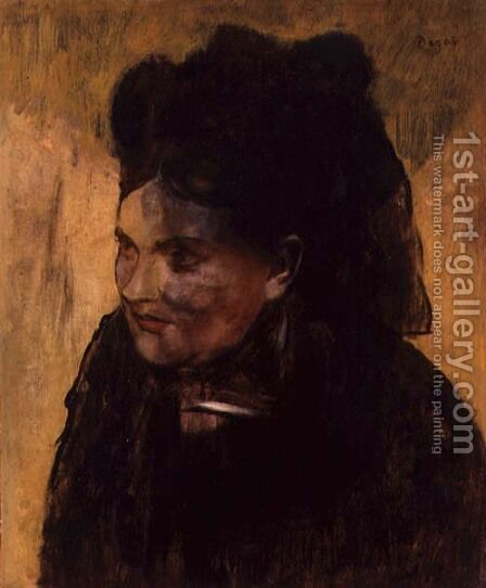 Portrait of a Woman, c.1876-80 by Edgar Degas - Reproduction Oil Painting
