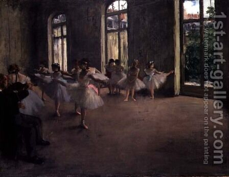The Rehearsal, c.1873-78 by Edgar Degas - Reproduction Oil Painting