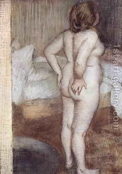 Standing Nude, c.1886 by Edgar Degas - Reproduction Oil Painting