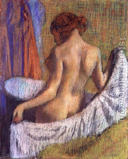 After the Bath, woman with a Towel, c.1885-90 by Edgar Degas - Reproduction Oil Painting