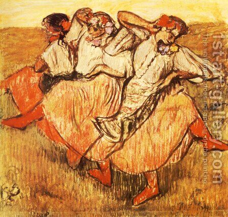 Three Russian Dancers by Edgar Degas - Reproduction Oil Painting