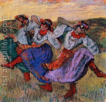 Russian Dancers, c.1899 2 by Edgar Degas - Reproduction Oil Painting