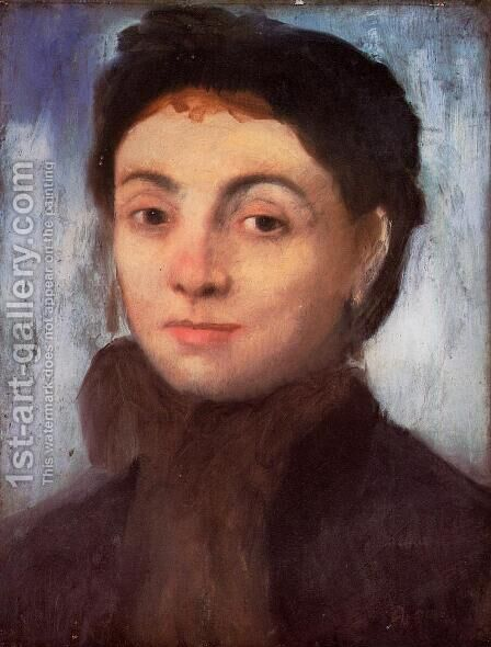 Portrait of Josephine Gaujelin, 1867 by Edgar Degas - Reproduction Oil Painting