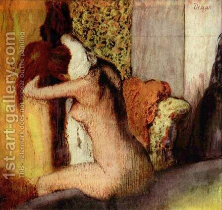 After the Bath, Woman Drying her Neck, 1898 by Edgar Degas - Reproduction Oil Painting
