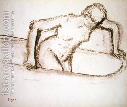 Woman in Tub by Edgar Degas - Reproduction Oil Painting