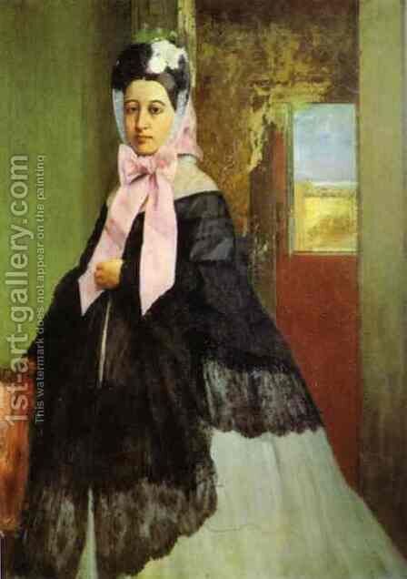 Therese de Gas (1842-95), sister of the artist, later Madame Edmond Morbilli, c.1863 by Edgar Degas - Reproduction Oil Painting