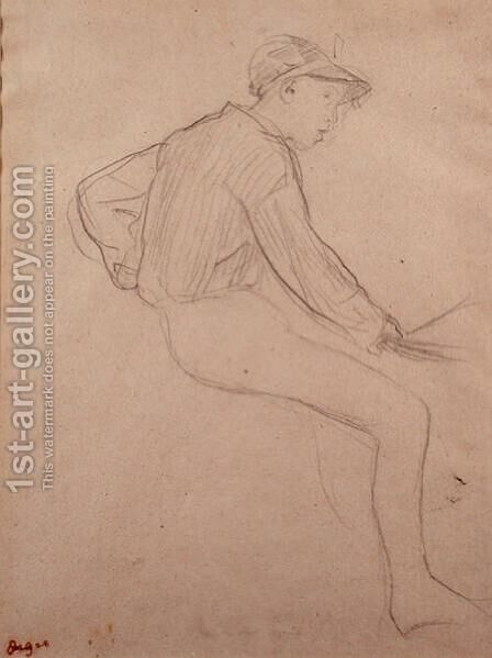 Study of a Jockey by Edgar Degas - Reproduction Oil Painting