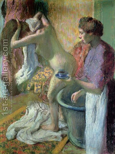 Breakfast after a bath, 1883 by Edgar Degas - Reproduction Oil Painting