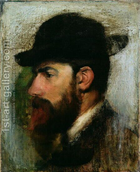 Portrait of Henri Rouart (1833-1912) 1871 by Edgar Degas - Reproduction Oil Painting