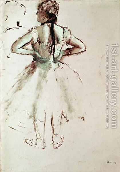 Dancer viewed from the back by Edgar Degas - Reproduction Oil Painting
