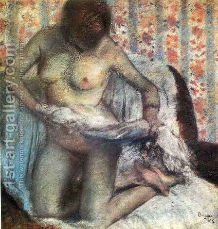 After the Bath, 1884 by Edgar Degas - Reproduction Oil Painting