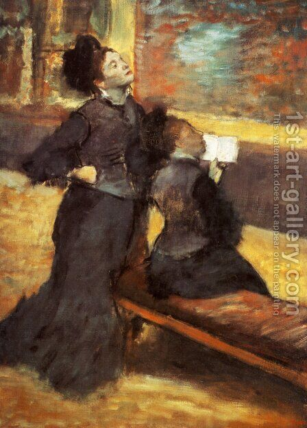 Visit to a Museum, c.1879-80 by Edgar Degas - Reproduction Oil Painting