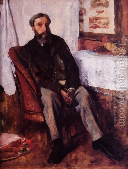 Portrait of a Man, c.1866 by Edgar Degas - Reproduction Oil Painting