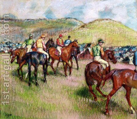 Before the Race, c.1893 by Edgar Degas - Reproduction Oil Painting