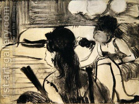 Illustration from 'La Maison Tellier', 1033 by Edgar Degas - Reproduction Oil Painting