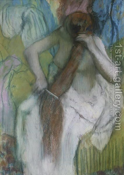Woman Combing her Hair, 1887-90 by Edgar Degas - Reproduction Oil Painting