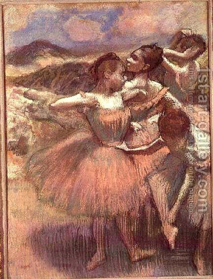 Four dancers on stage by Edgar Degas - Reproduction Oil Painting