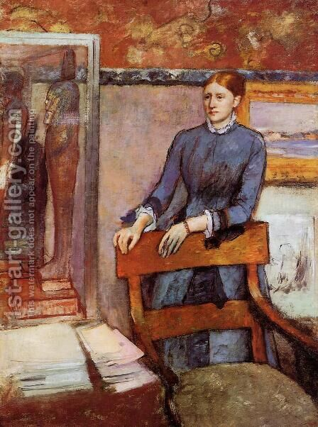 Helene Rouart in her Father's Study, c.1886 by Edgar Degas - Reproduction Oil Painting