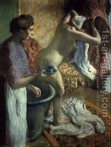 Breakfast after a bath by Edgar Degas - Reproduction Oil Painting